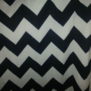 Chevron print long skirt
